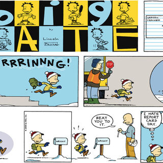 Nate runs out of P.S. 38 in this comic strip.