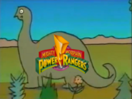 PBS P-Pals dinosaur ID (Mighty Morphin Power Rangers 1993 logo)