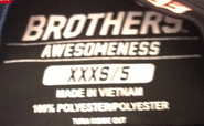 Brothers Awesomeness label (size 5)