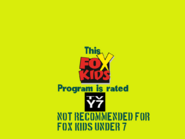 Fox Kids generic Y7 (yellow background and teal text) bumper