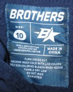 Brothers italicized B star label (size 10)
