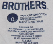 Brothers standard label (size 12)