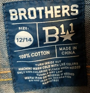 Brothers B11 label (size 12)
