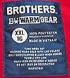 Brothers B11 Warm Gear label
