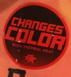 Brothers Changes color with thermal heat label