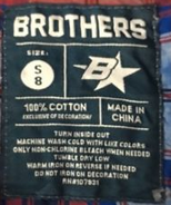 Brothers B star label (size 8)