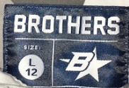 Brothers B star label (size 12)