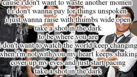 Big Time Rush - A SHOT IN THE DARK - Letra
