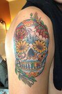Kendall skull tattoo 3