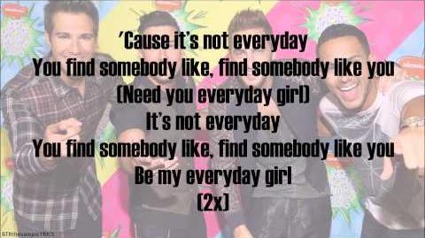 Big Time Rush - Everyday Girl (with lyrics)