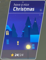 Xmas map button