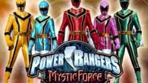 Here come the Power Rangers (Power Rangers Mystic Force)