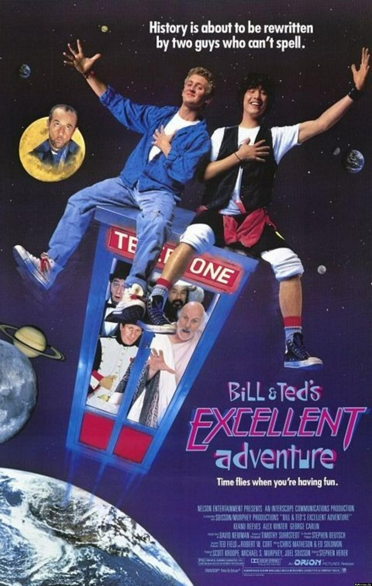 Bill & Teds Excellent Adventure poster