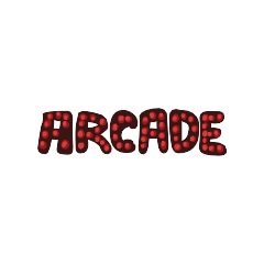Neon Sign above the arcade