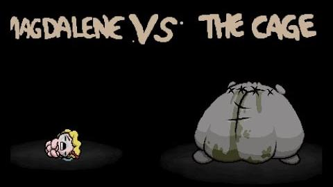 """The Binding of Isaac Rebirth """"The Cage"""" boss fight"""