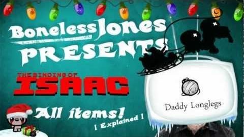 Binding of Isaac items Daddy Longlegs