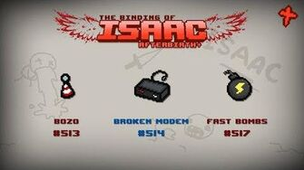 Binding of Isaac Afterbirth Item guide - Bozo, Broken Modem, Fast Bombs