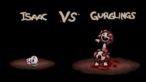"""The Binding of Isaac Rebirth """"Gurglings"""" boss fight"""