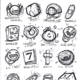 Item sketches in the <a href=