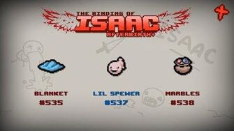 Binding of Isaac Afterbirth Item guide - Blanket, Lil Spewer, Marbles