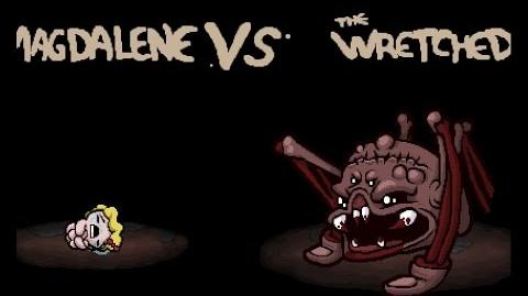"""The Binding of Isaac Rebirth """"The Wretched"""" boss"""
