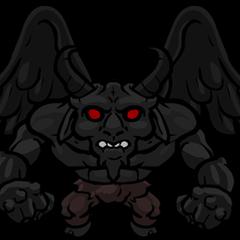 Still image of Satan's first form.