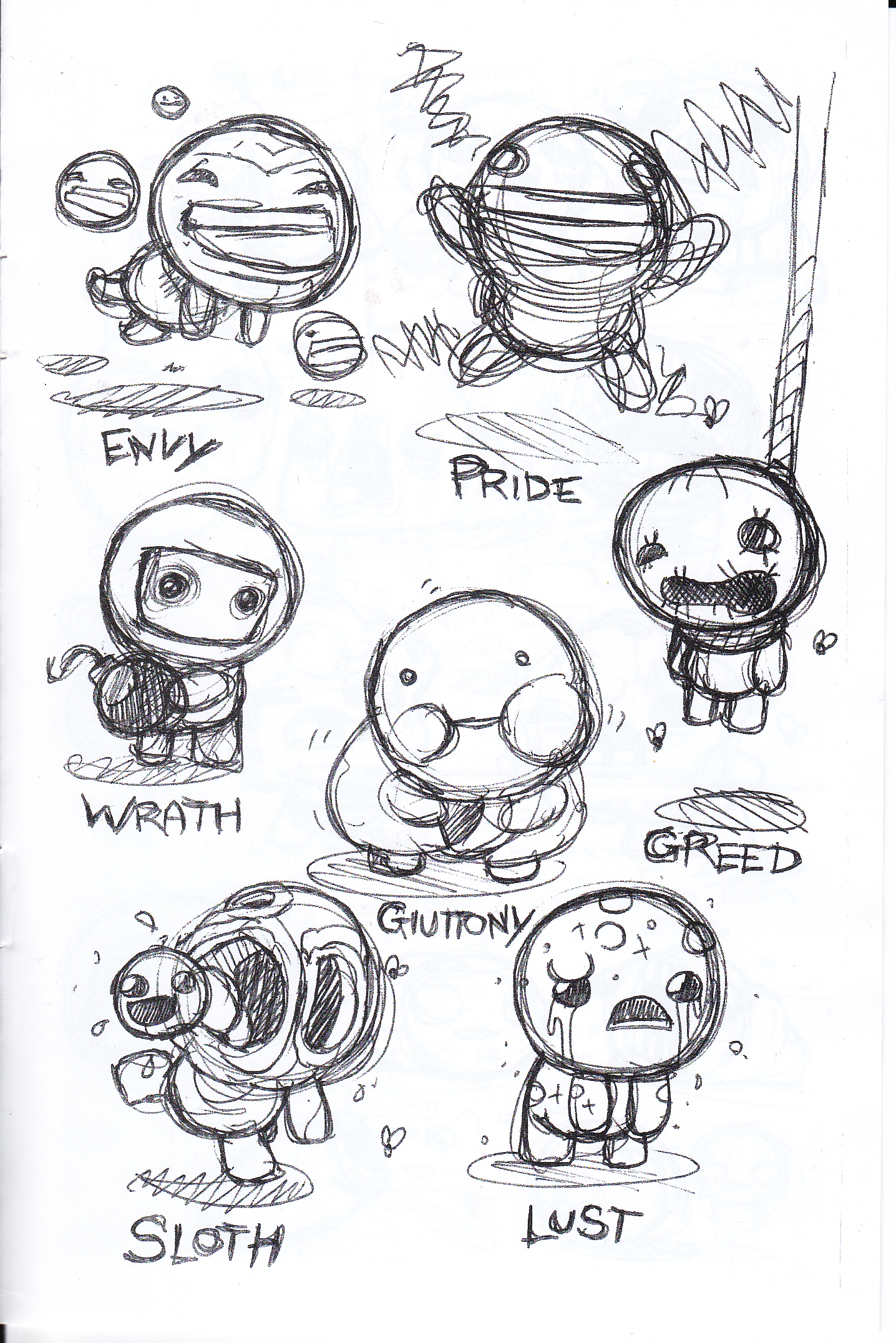 The Seven Deadly Sins The Binding Of Isaac Wiki Fandom