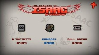 Binding of Isaac Afterbirth Item guide - D Infinity, Compost, Dull Razor
