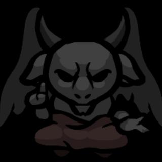 Satan as a statue.