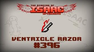 Binding of Isaac Afterbirth Item guide - Ventricle Razor
