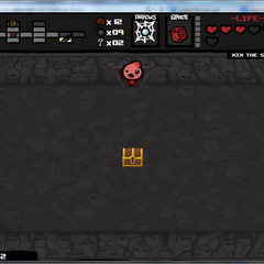 Flying Isaac in challenge room without full health.