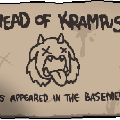 The  card  that  shows  when  defeating  the  Krampus  for  the  first  time.