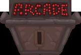 Arcade door closed