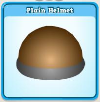 Plain helmet
