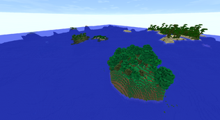 Rainforest Island, Jungle, Ocean Mounument