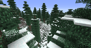 Snowy Coniferous Forest