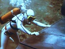 Sharks (Part II) - Steve pushing the entire submarine Stingray