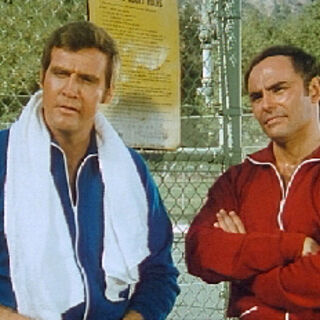 Steve and Fred after a game of tennis