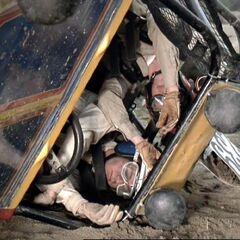 Crash in the desert!