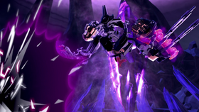 Makuta's battle with the toa