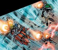 Comic Toa Nuva Escaping on Codrex Vehicles