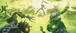 Comic Umbra using Light Powers