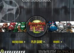 Piraka Attack Main Screen