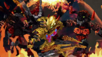 VHU Bestias Elemntales Atacando a Tahu