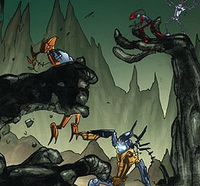 Comic Thok and Hakann Defeat Avak and Reidak