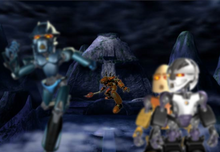 TLC Gali Nuva and Matoran Flee from Rahkshi