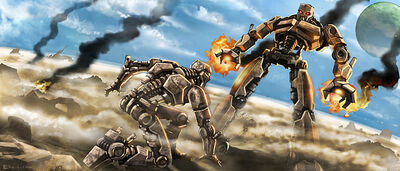 Art Teridax Beating Mata Nui