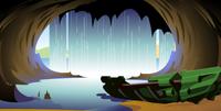 Dentro de las Cataratas Naho