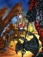 457px-Comic Piraka Thok and Reidak vs Axonn