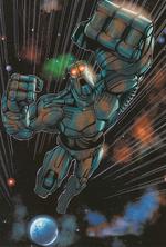 Historieta Robot Mata Nui Dejando Aqua Magna